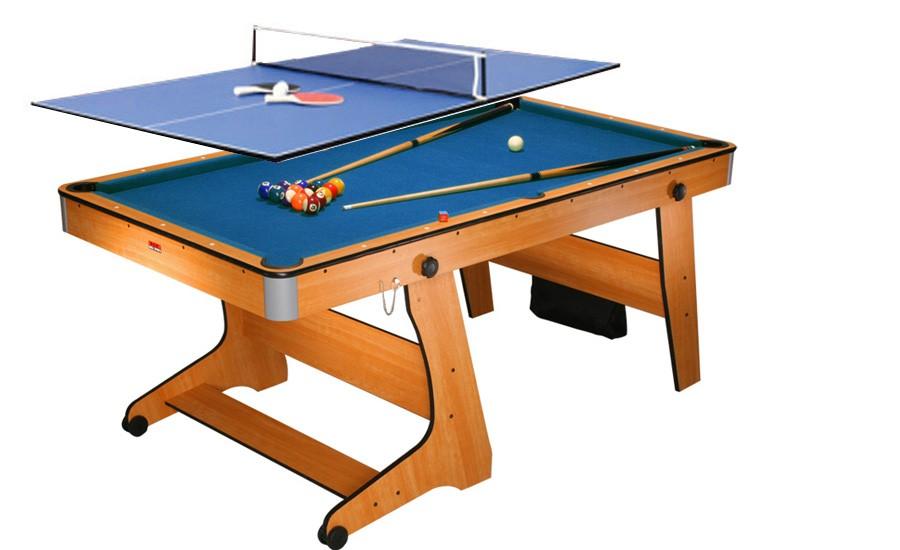 Billard am ricain pliable d 39 initiation 183cm mod le clifton avec plateau ping pong rangement - Table de billard dimension ...