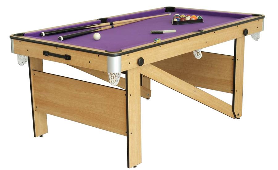 Billard am ricain pliable d 39 initiation mod le preston 6ft - Table de salon billard ...