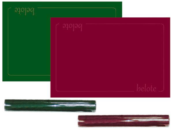 tapis de carte belote Tapis pour jeux de cartes belote 60 x 40cm
