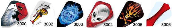 Ailettes de flechettes Heart 8800 Harrows Darts    Ailette pour flechette soft