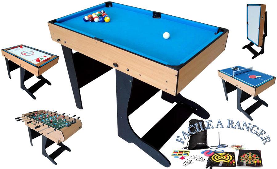 table multi jeux 21 en 1 billard baby foot air hockey ping pong. Black Bedroom Furniture Sets. Home Design Ideas