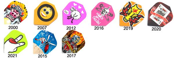 Ailettes de flechettes Quadro 2012 Harrows Darts    Ailette pour flechette soft