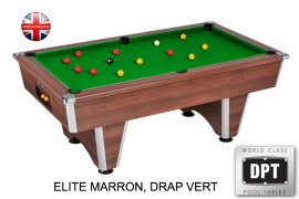 billard pool elite 7ft marron drap vert w541mvr