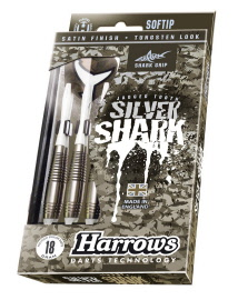 flechette-softip-harrows-silver-shark-nylon-detail